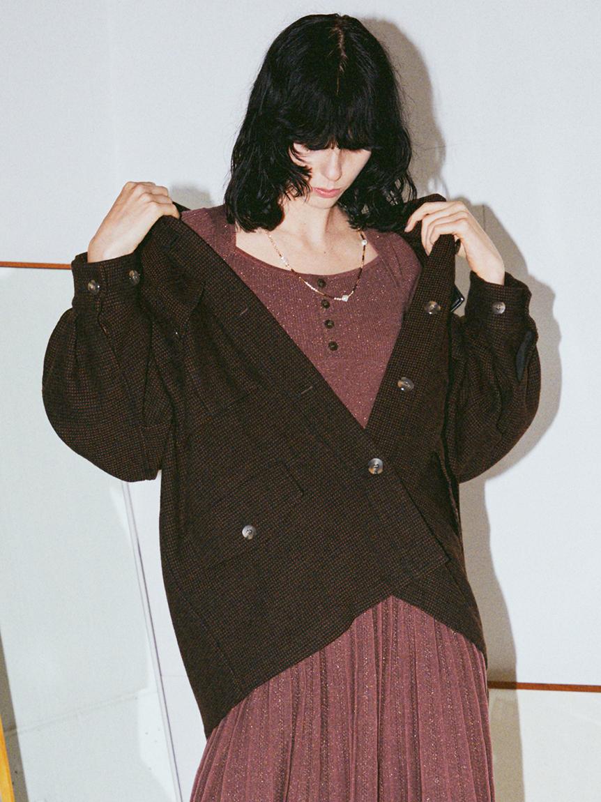 オーバーシャツジャケット(BLK-F)