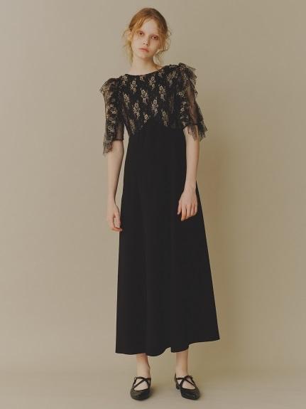 フリル袖切り替えドレス(GLD-0)