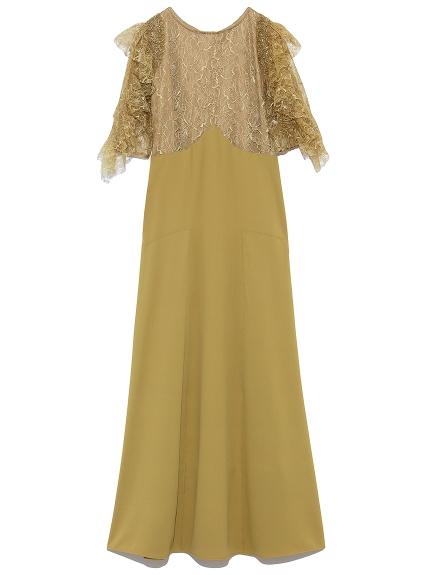フリル袖切り替えドレス(YEL-0)