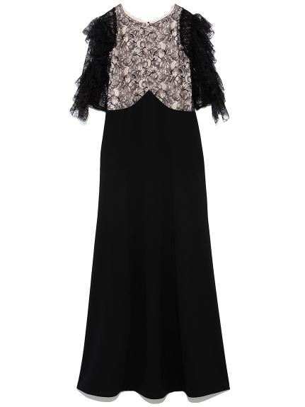 フリル袖切り替えドレス(BEG-0)