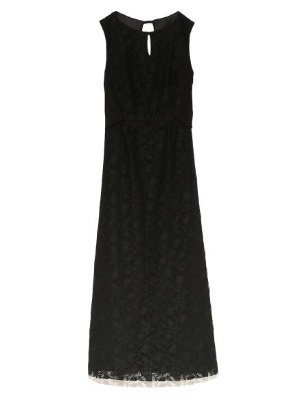 背中開きクラシックドレス(BLK-0)
