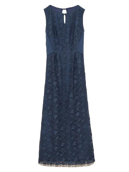 背中開きクラシックドレス(BLU-0)