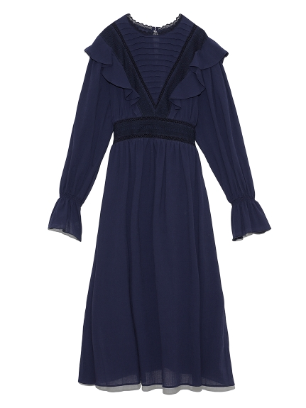 コットンフリルナイトドレス(NVY-F)