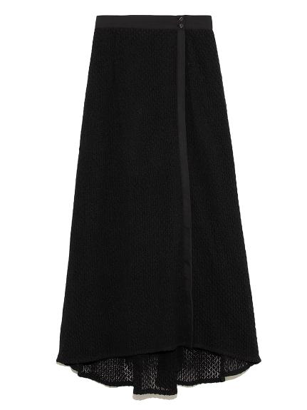 ショートパンツ付き透かしスカート(BLK-F)