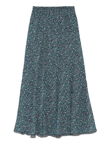 チューリップ柄切り替えスカート