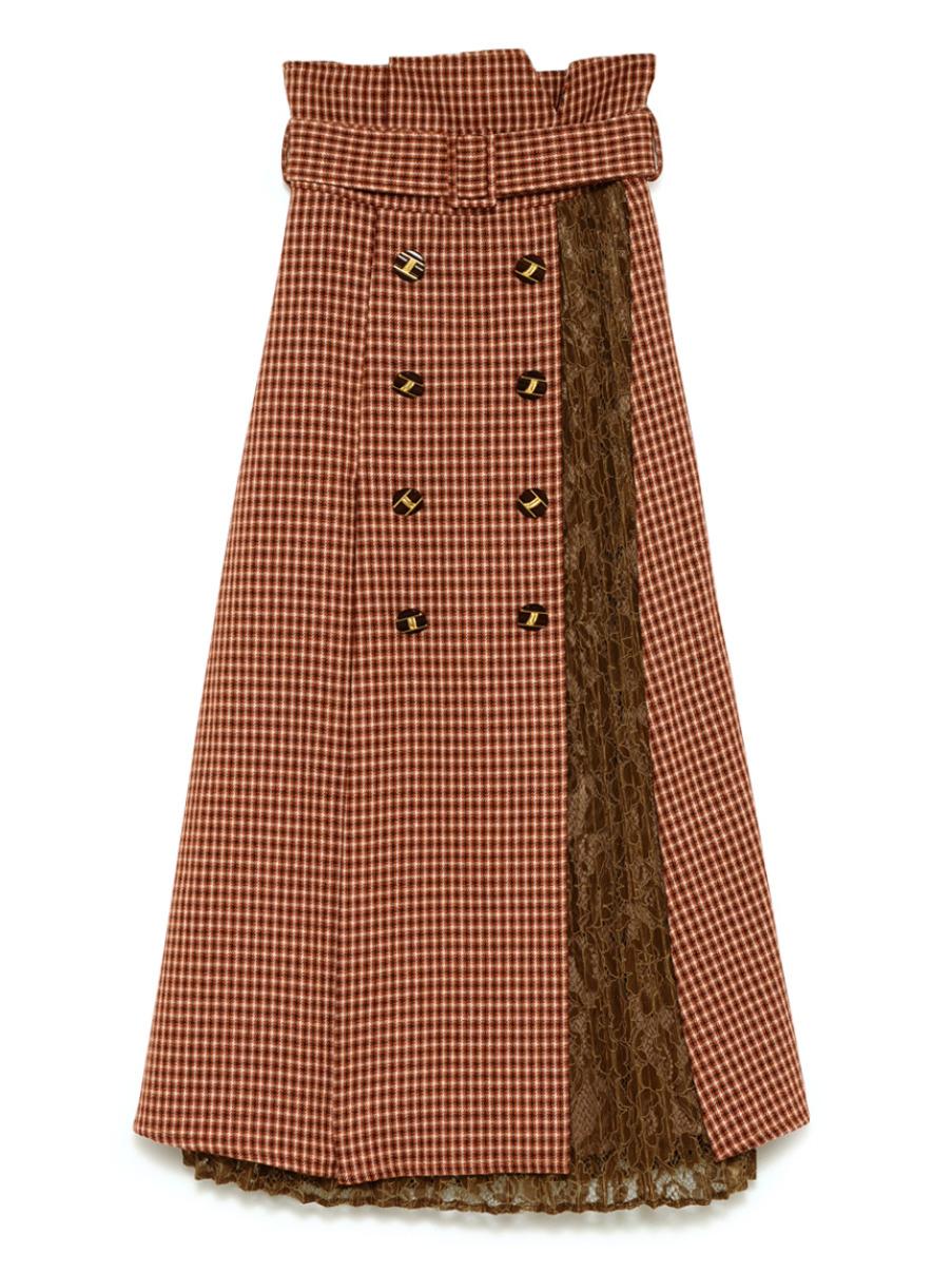 異素材切り替えスカート(ORG(限定)-F)