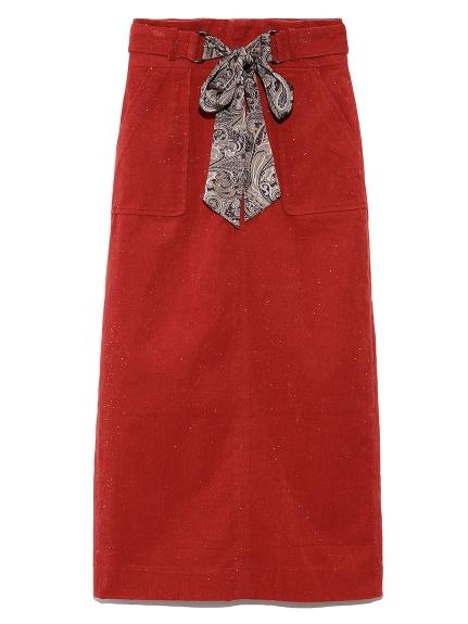 コーデュロイタイトスカート(RED-0)