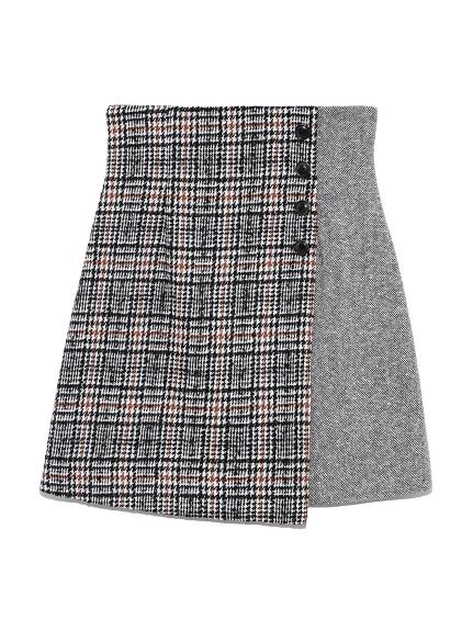 ツイードチェック台形スカート(OWHT-0)