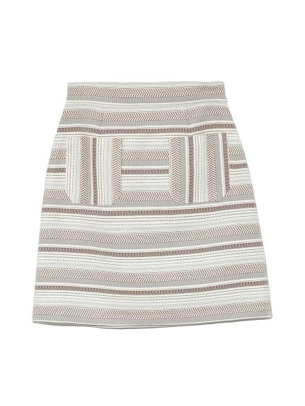 ジャガード台形スカート