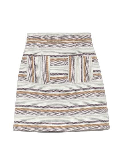 ジャガード台形スカート(BEG-0)