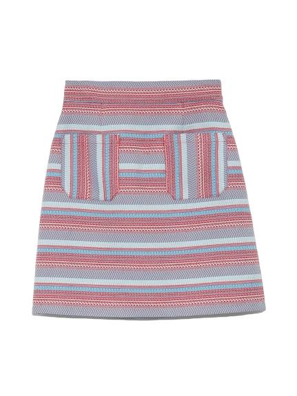 ジャガード台形スカート(RED-0)