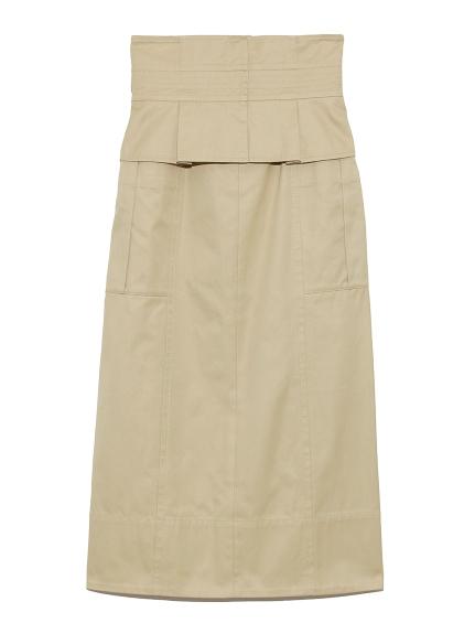 ベルト付きタイトスカート(BEG-0)