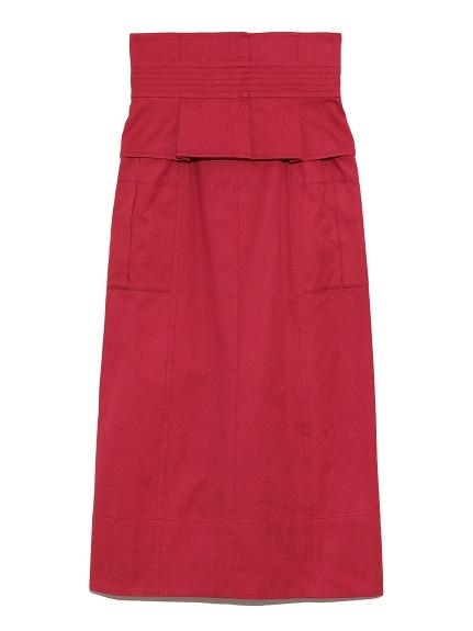 ベルト付きタイトスカート(RED-0)