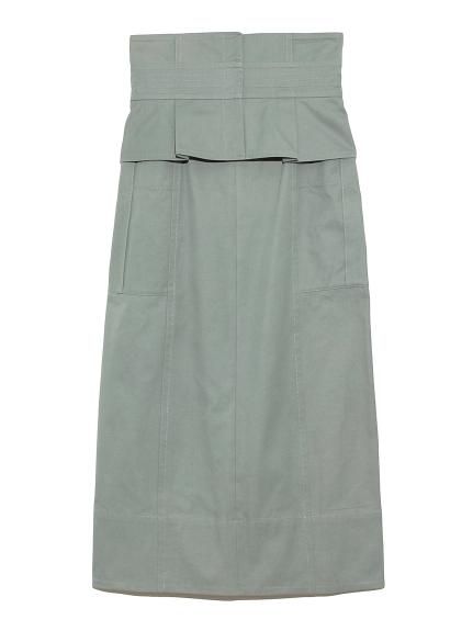 ベルト付きタイトスカート(BLU-0)