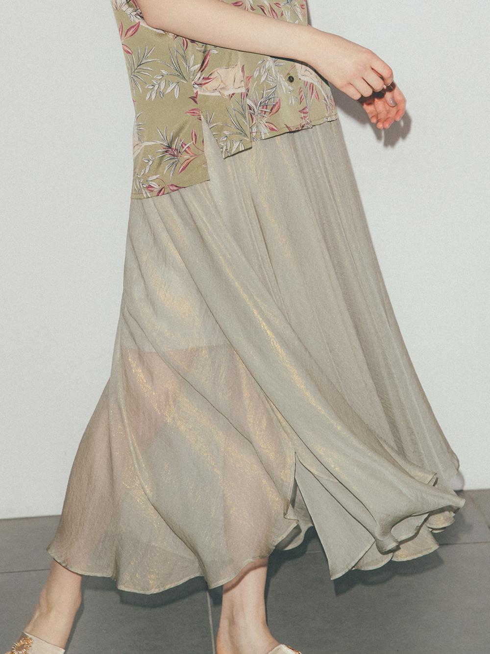 光沢シアスカート