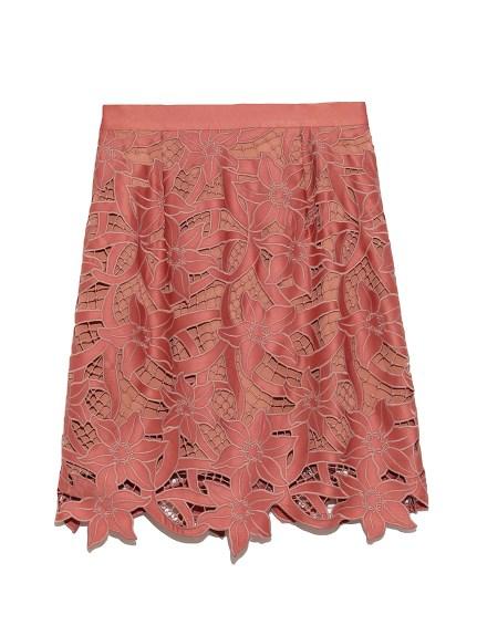 フラワー刺繍ミニスカート