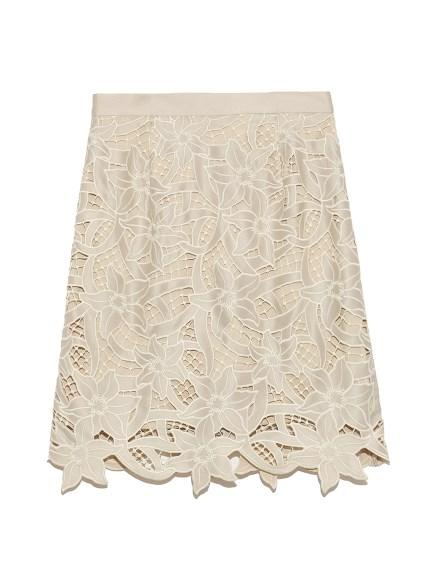 フラワー刺繍ミニスカート(BEG-0)