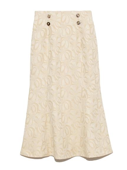 フラワージャガードスカート(OWHT-0)