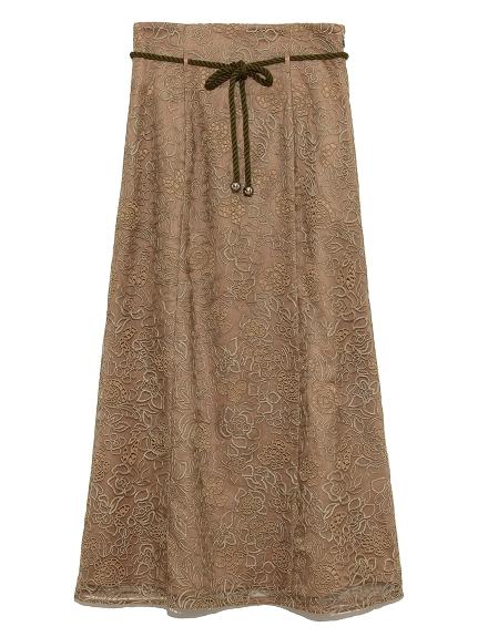 刺繍レースマーメイドスカート(KKI-0)