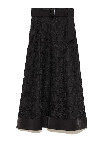 裾切り替えレーススカート(BLK-F)