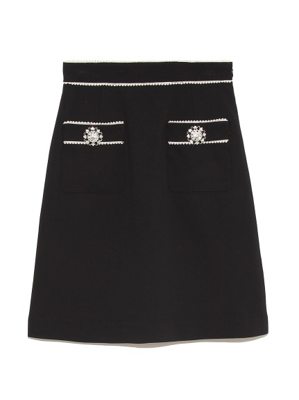 [L.B CANDY STOCK]フロントポケットミニスカート