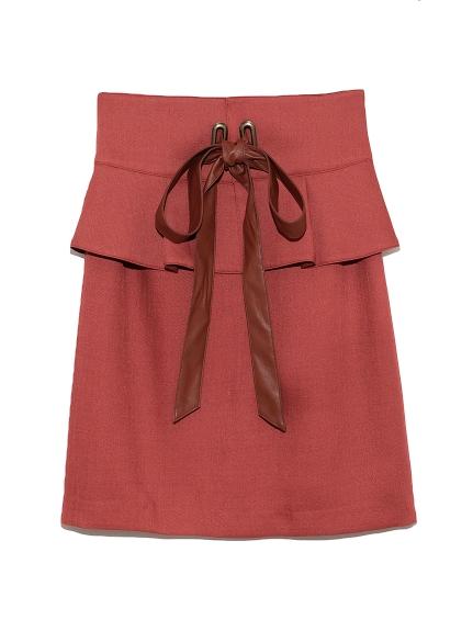 ぺプラムベルト付スカート(ORG-0)