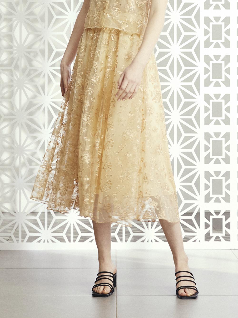 オリエンタル刺繍スカート(BEG-F)