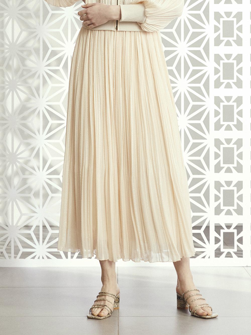 ジャガードプリーツスカート
