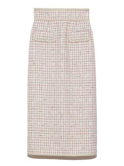 ツイードロングスカート(WHT-0)