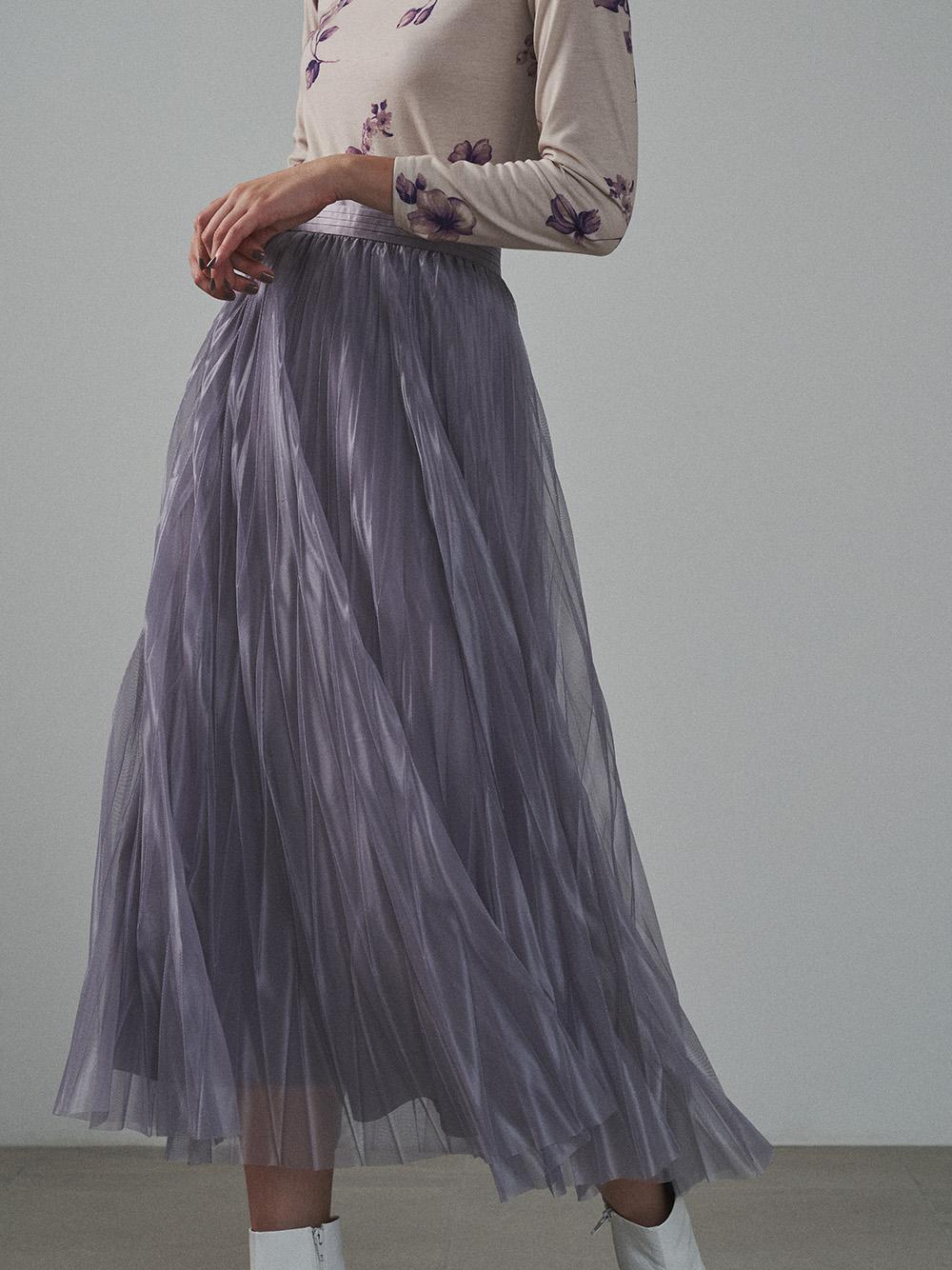 変形シアープリーツスカート(BLU-F)