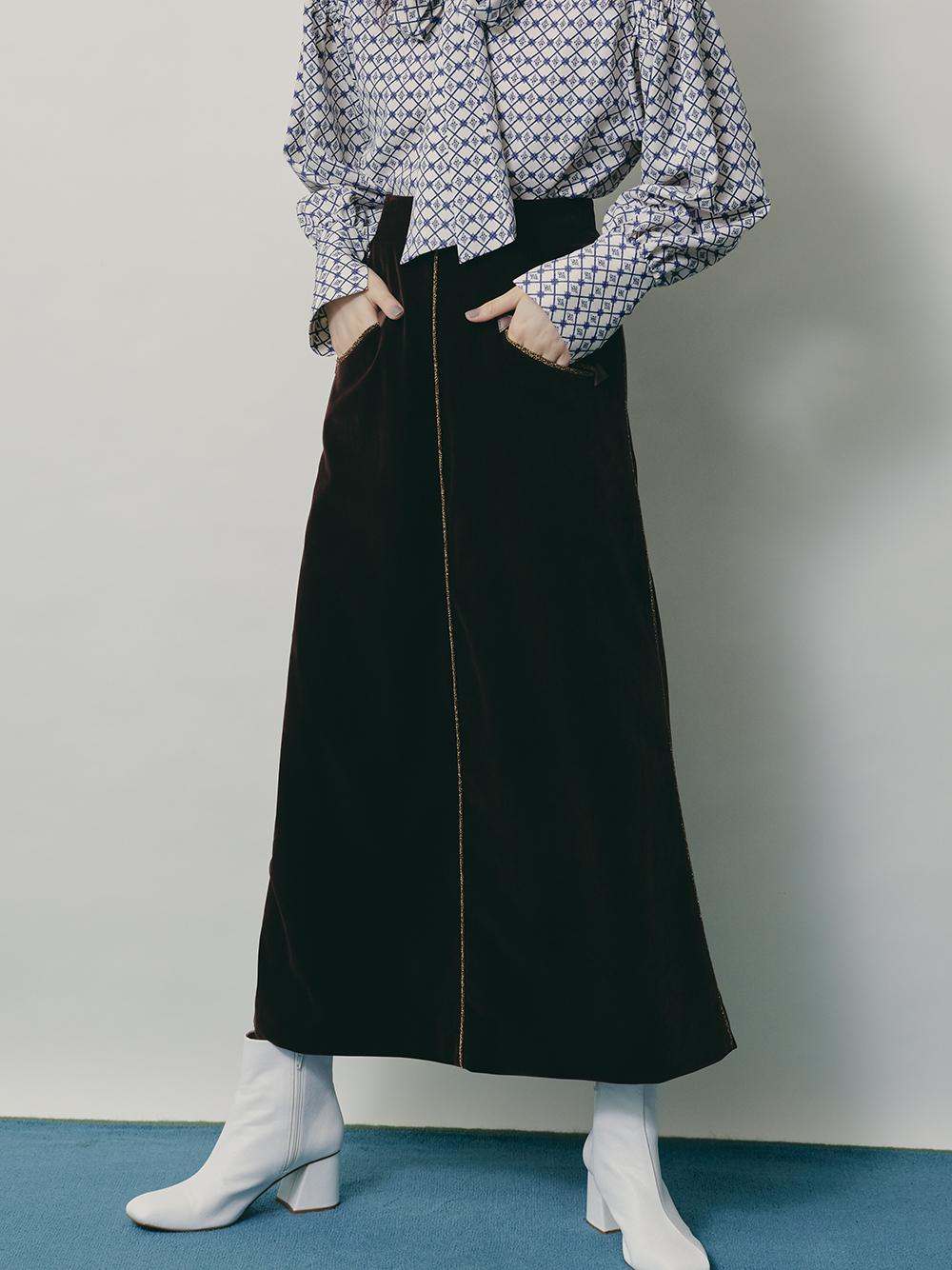 ベロアロングスカート(BRW-0)