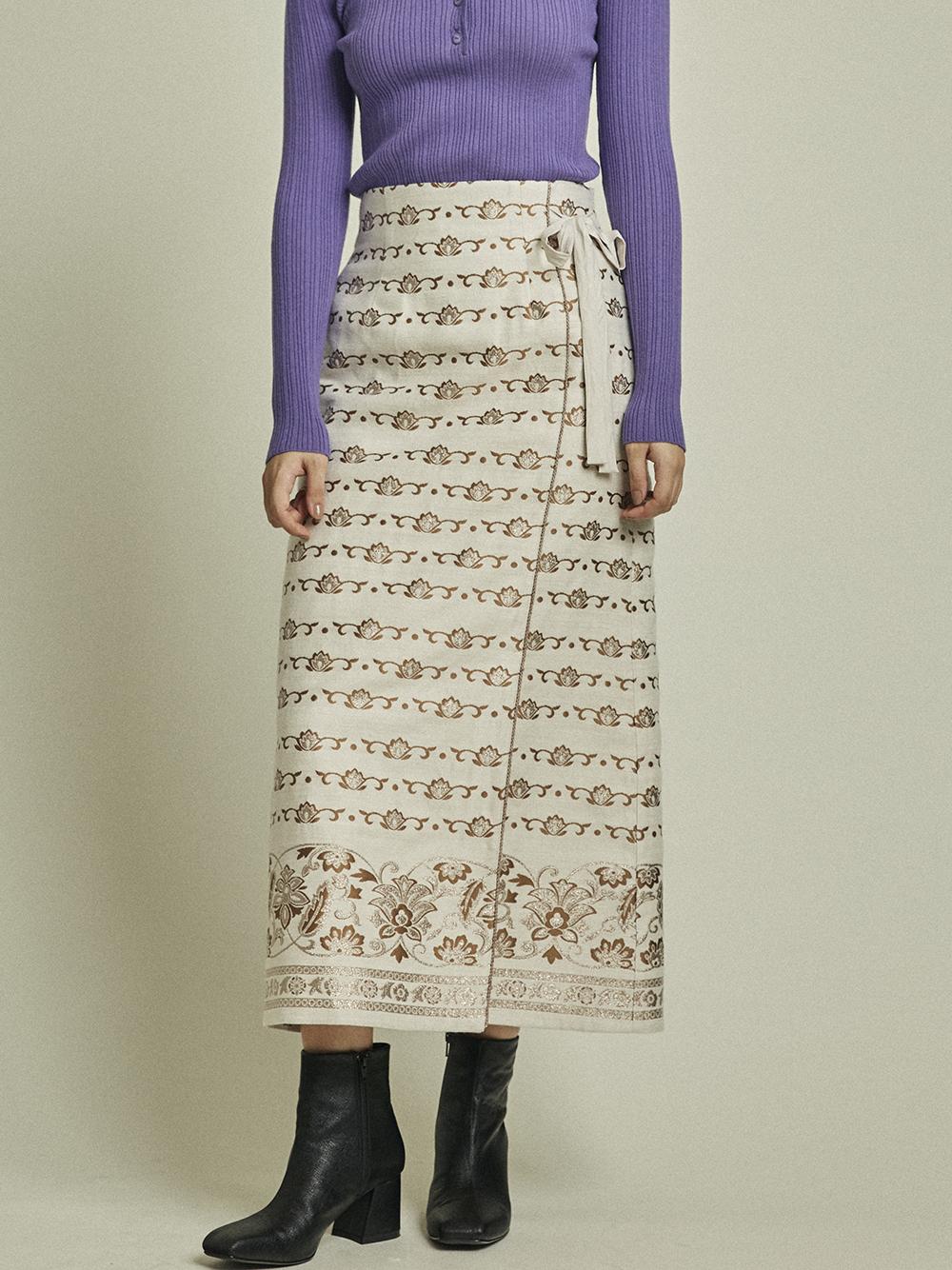 ラメJQラップスカート