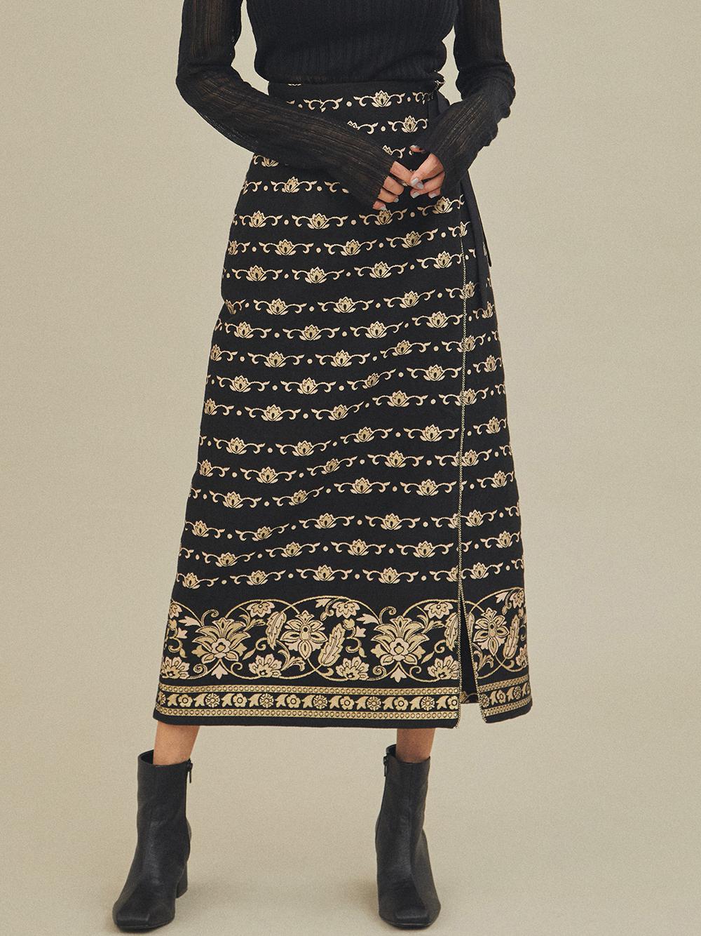 ラメJQラップスカート(BLK-0)