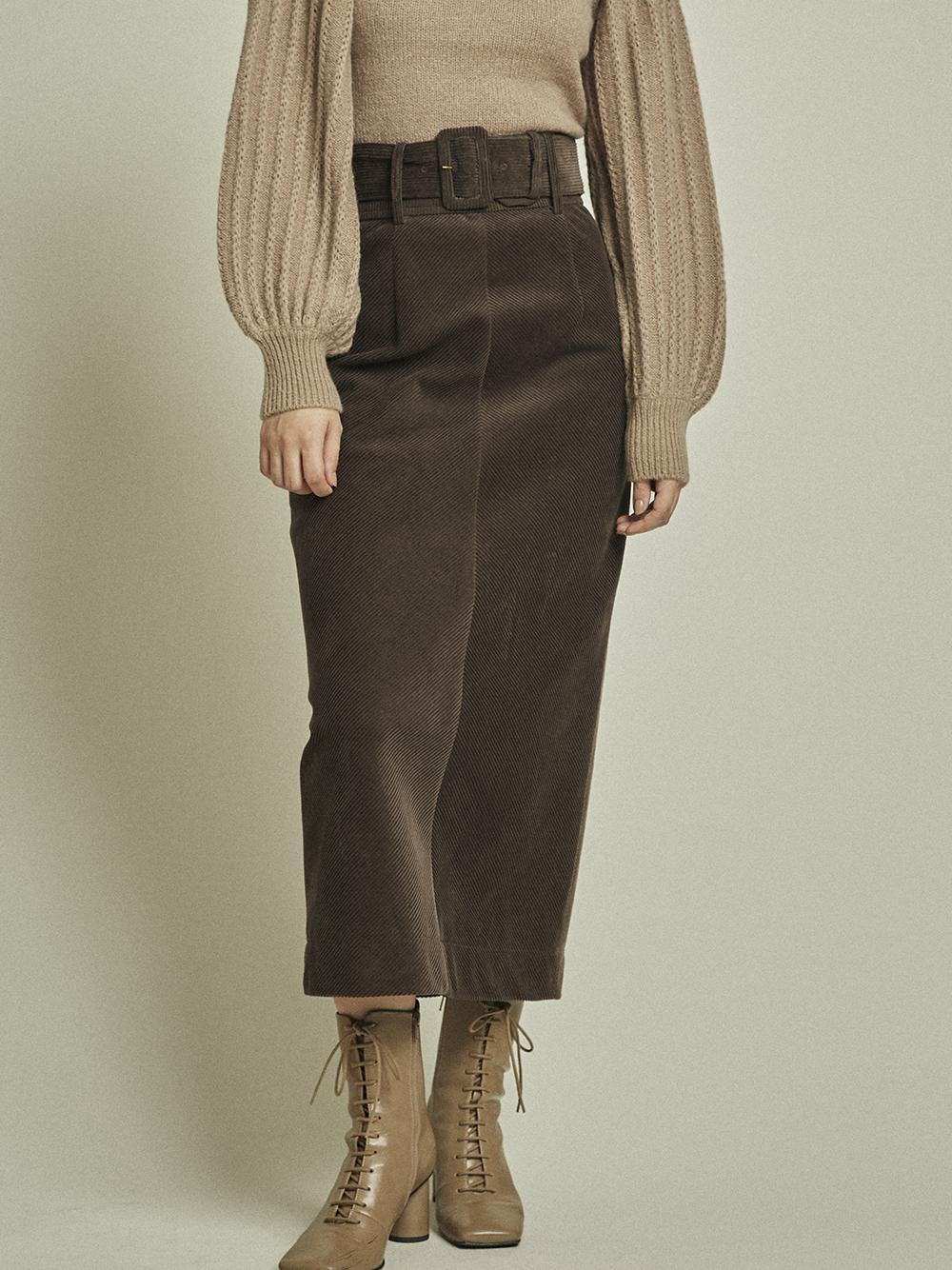 コーデュロタイトスカート