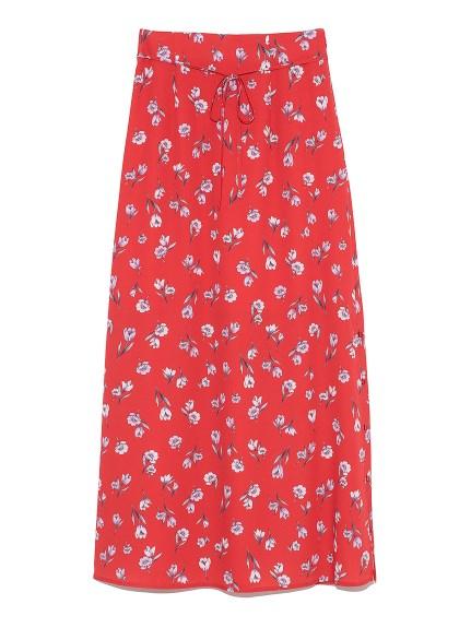 花柄ロングスカート(RED-F)