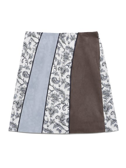 カラーブロックスカート(BLU-0)