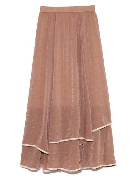 裾パイピングシフォンスカート(BRW-F)
