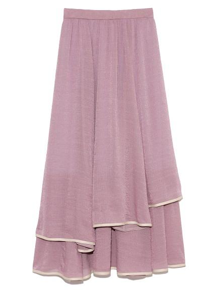 裾パイピングシフォンスカート(LAV-F)