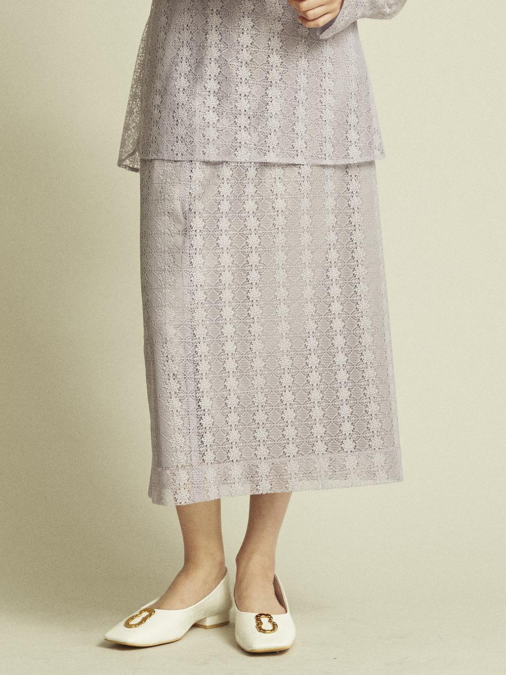 エコペットレースタイトスカート(LAV-0)