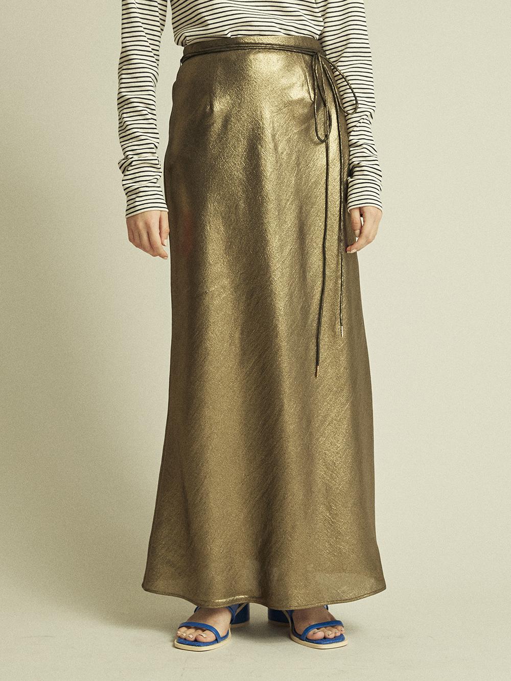 シャイニーロングスカート(GLD-0)