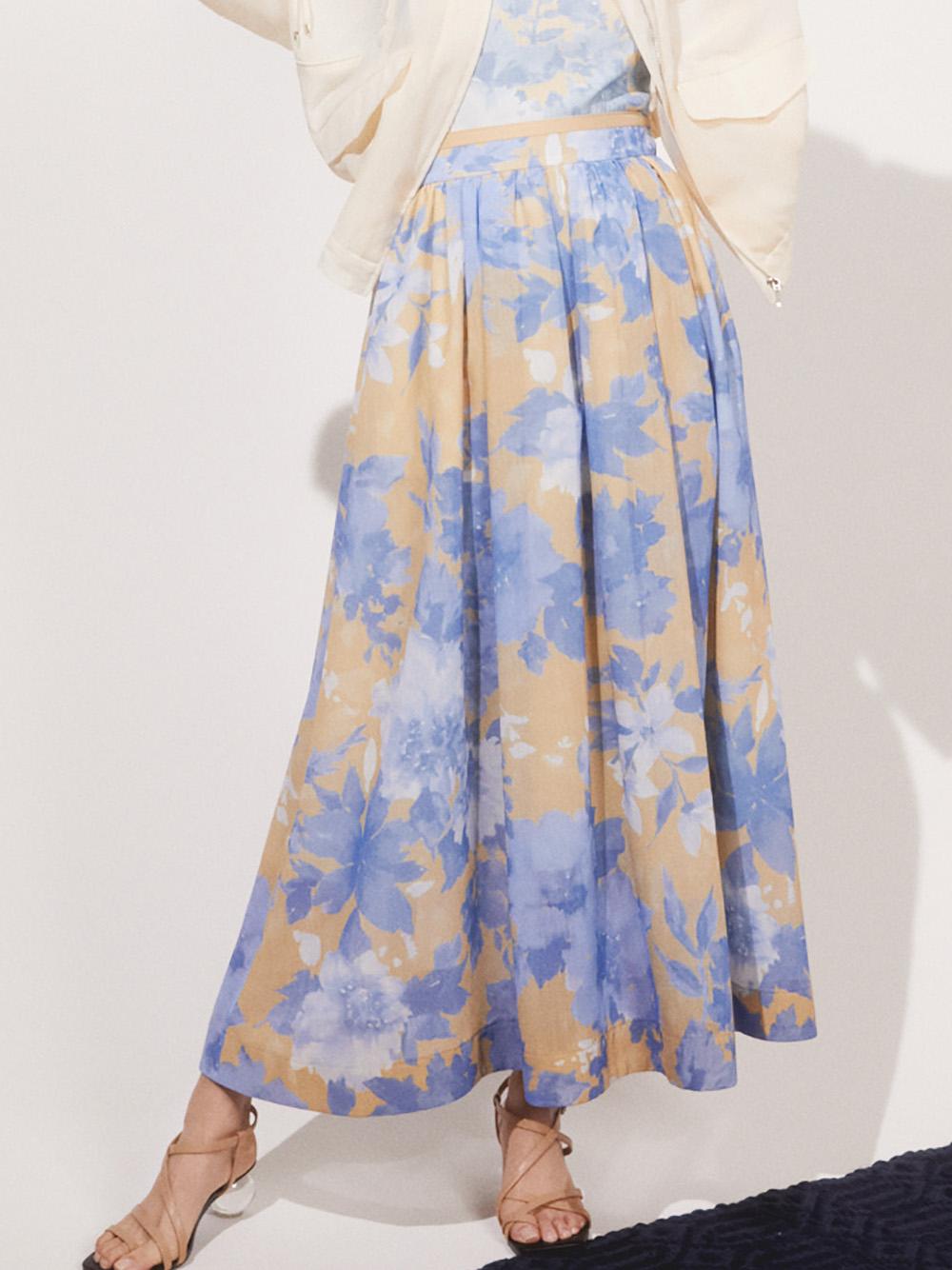 ボタニカルフラワースカート