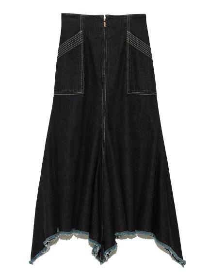 マーメイドラインデニムスカート(BLU-0)