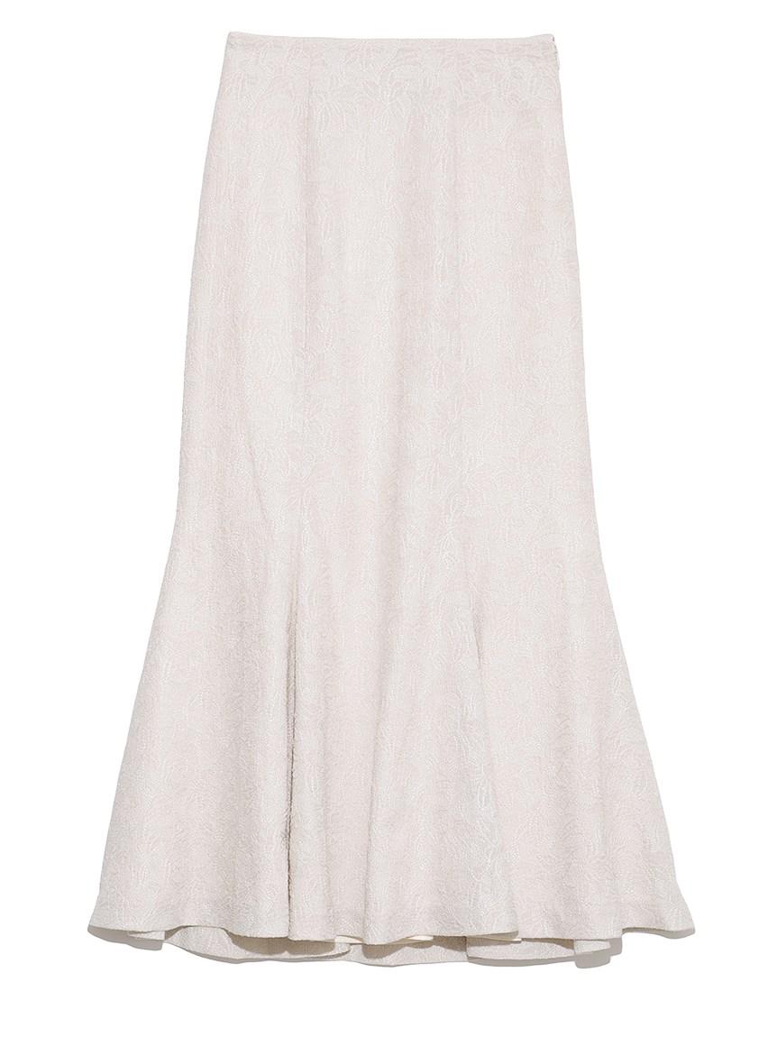 【限定サイズ】リリー刺繍マーメイドスカート(IVR-<オンライン限定>00)