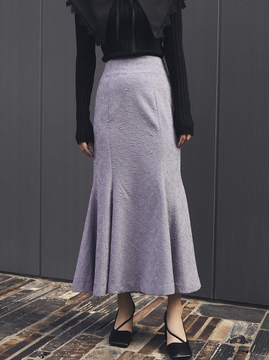 【限定サイズ】リリー刺繍マーメイドスカート(BLU-<オンライン限定>00)