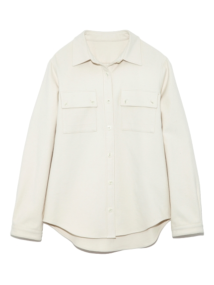 ウールライクコットンシャツ
