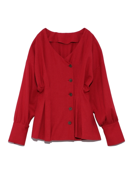 タックデザインワークシャツ(RED-F)