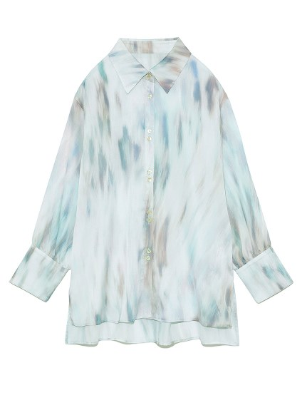 tabbypatternシャツ(BLU-F)