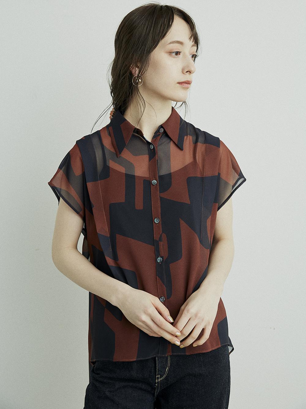 アブストラクトシアーシャツ(BRW-F)