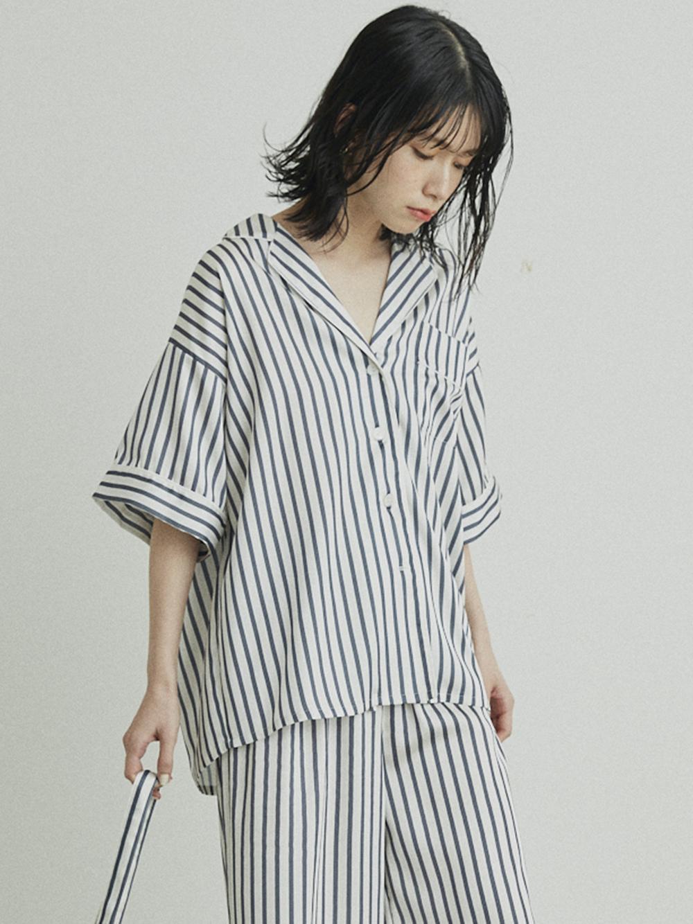 サテンパイピングシャツ(OWHT-F)
