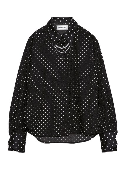 ビジューシャツ(BLK-F)